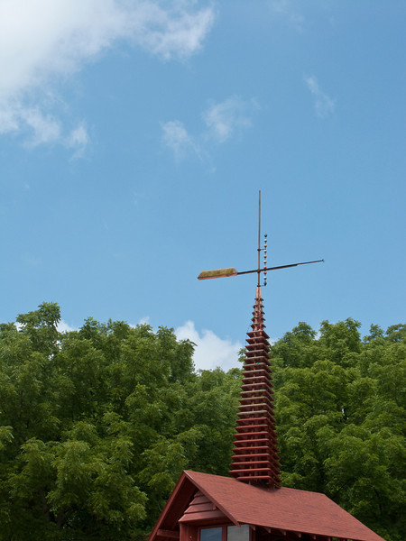 USA, Wisconsin, Spring Green, Frank Lloyd Wright compound, Taliesin, Midway Barn Weather Vane