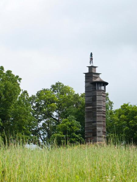 USA, Wisconsin, Spring Green, Frank Lloyd Wright compound, Taliesin, Romeo and Juliet Windmill