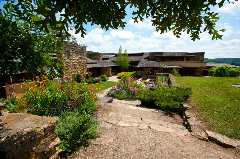USA, Wisconsin, Spring Green. Frank Lloyd Wright, Taliesin, His Private Residence Garden Area