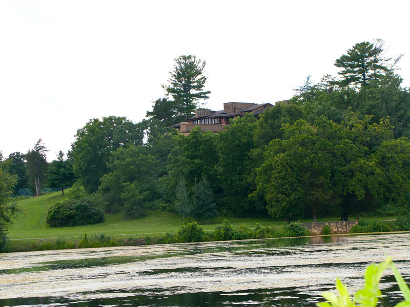 USA, Wisconsin, Spring Green, Frank Lloyd Wright compound, Taliesin, Private Residence over Compound Pond