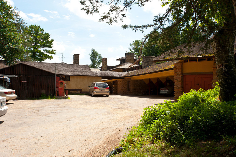 USA, Wisconsin, Spring Green. Frank Lloyd Wright, Taliesin, His Private Residence Garage area