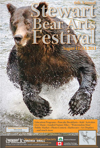 ROBERT'S WINNING IMAGE IN THE PREVIOUS YEAR'S COMPETITION BECOMES THE IMAGE FOR THIS YEAR'S BEAR ARTS FESTIVAL IN STEWART, BC