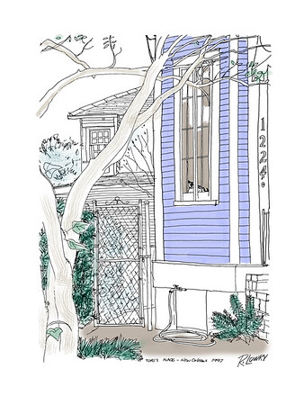 LINE DRAWING in NEW ORLEANS, LOUISIANA