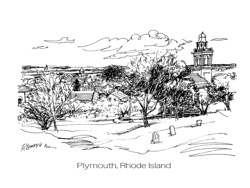 LINE DRAWING from PARK in PLYMOUTH, RHODE ISLAND