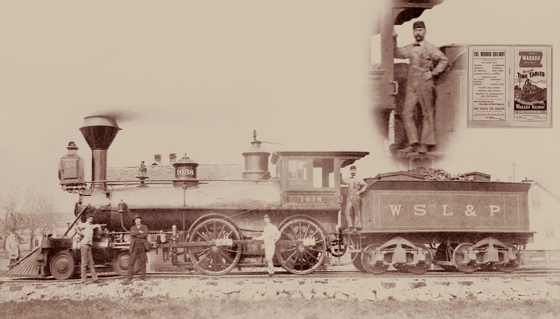 Wabash St Louis & Pacific Railroad Engine