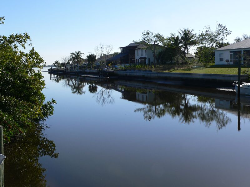 Looking east down the canal from my dock