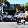 Bubble Machine at Fairfax Annual Parade in California