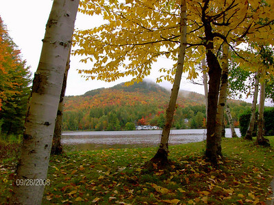 Mt Baker, viewed from Moody Pond, in the village of Saranac Lake, sep 28, 2008 HPIM0114-1