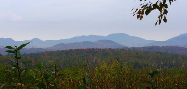 The Sawtooth Mts from Oseetah Rd, Ray Brook, NY, sep 30, 2008 CIMG2849-1