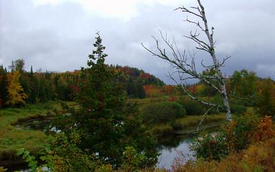 Saranac River, east of  Saranac Lake village, sep 28, 2008 HPIM0122-1