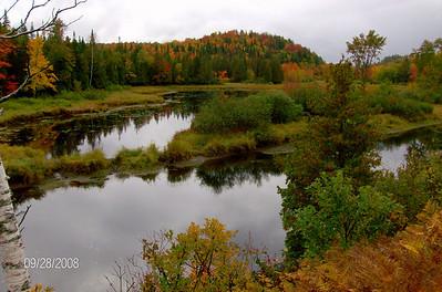 Saranac River, east of  Saranac Lake village, sep 28, 2008 HPIM0118-1