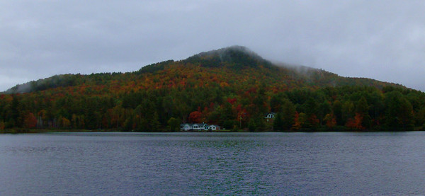 Mt Baker, viewed from Moody Pond, in the village of Saranac Lake, sep 28, 2008 HPIM0110-1
