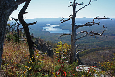 Lake James from the side of Shortoff Mt on the south end of Linville Gorge