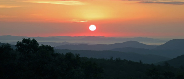 Sunrise from Highway 181, Jonas Ridge