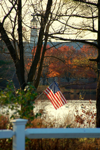 Autumn flag, American colors