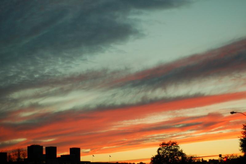 Fall colors, Boston sky