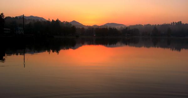 Lake Flower, sunrise 7am, oct 5, 2012  CIMG7510