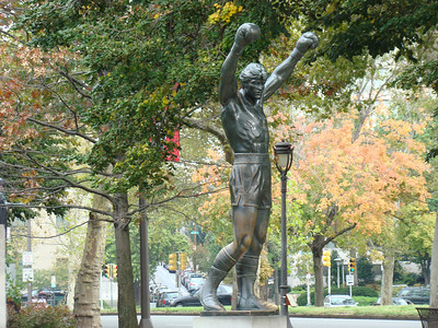 Rocky statue in early October