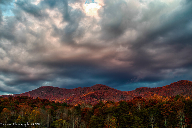Mountains above Trackrock Campground in Blairsville GA