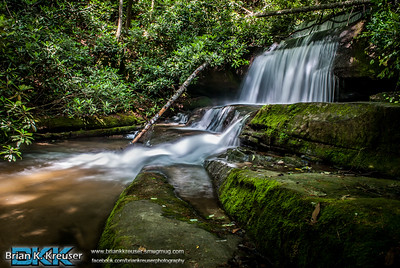 The upper and lower falls on Crow Creek in Rabun, Co.