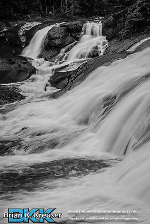 High Falls in Black/White