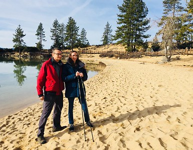 Dad, Erin, Sand Harbor, Lake Tahoe