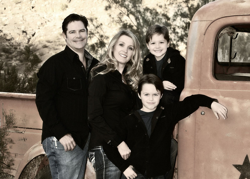family and truck at Nelson Landing