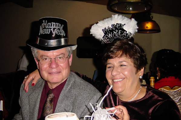 Celebrating New Year's Eve with Don and Mom