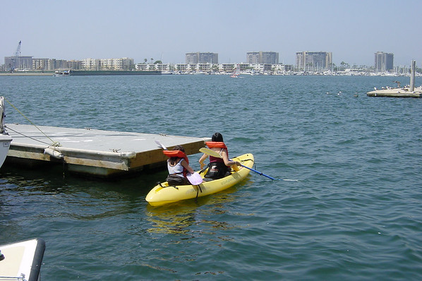 ...on our first Marina del Rey kayaking adventure