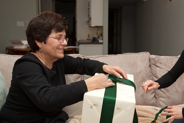 Mom opens her big gift...