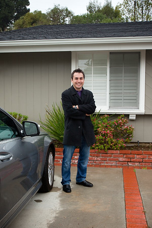 Cousin Mike visits our house on the peninsula for the first time...and brings bad weather with him