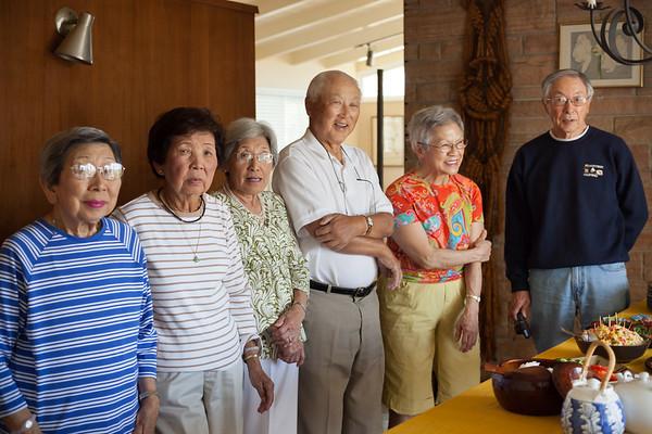 Maude, Pat, Grace, Roy, Jean, Len