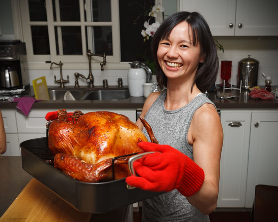 THANKSGIVING - Valerie has cooked her first turkey...and both look beautiful