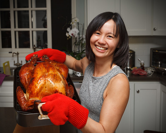 Look at the size of that thing...the bird probably weighs more than Valerie!