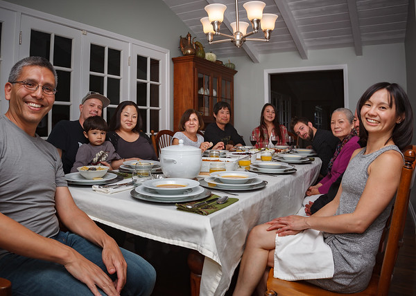 This Thanksgiving we host more of Valerie's side of the family than my own since Charline was able to join us