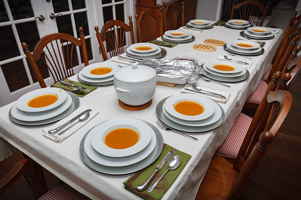 Butternut squash soup has been served.  LET'S EAT!