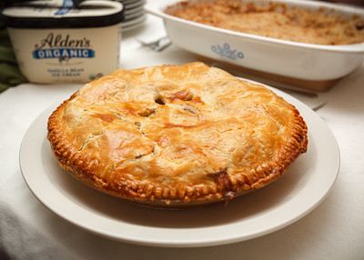 Valerie's apple pie is ready to serve...a la mode, of course!