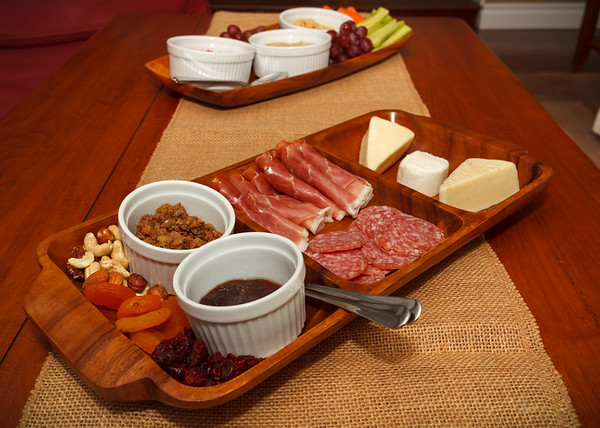 Cheese and meat plate (didn't get a shot of Valerie's freshly baked bread or her baked brie)