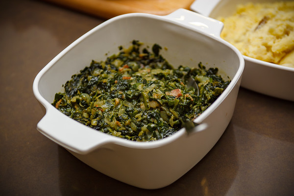 Creamed spinach is the essential side
