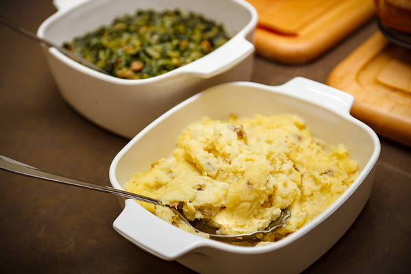 Rather than topping a baked potato, Valerie mashed up an encore of her latest Thanksgiving variation...so good!
