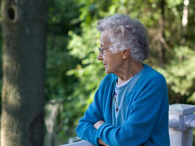 Grandma watching the kids play