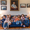What a legacy! All 10 Great-grandkids pose with a portrait of there Great-grandfather