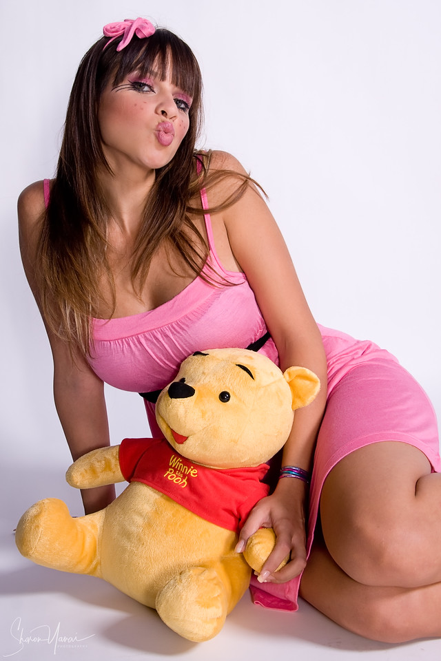 Doll with pooh the bear