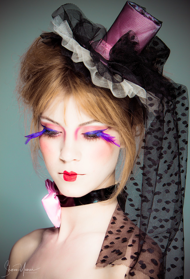 Model with Gothic Makeup