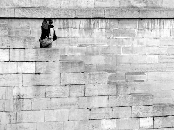 Lovers along the Seine Paris, France