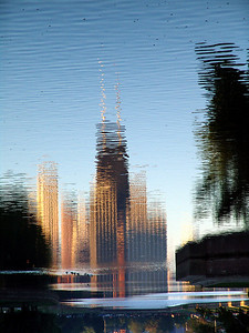 Reflections, Chicago Skyline, Lincoln Park Lagoon