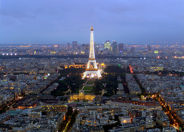 View of Paris and the Eiffel Tower from Montparnasse