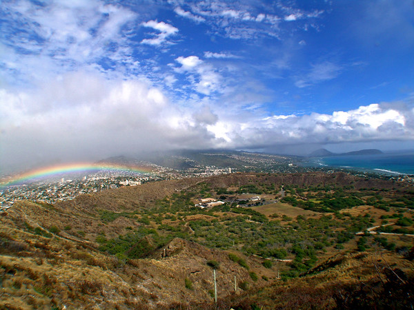 Rainbow over Oahu, HI