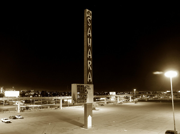 Old Sahara Hotel Sign