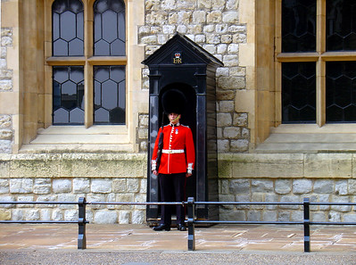 Guarding the Tower of London, England